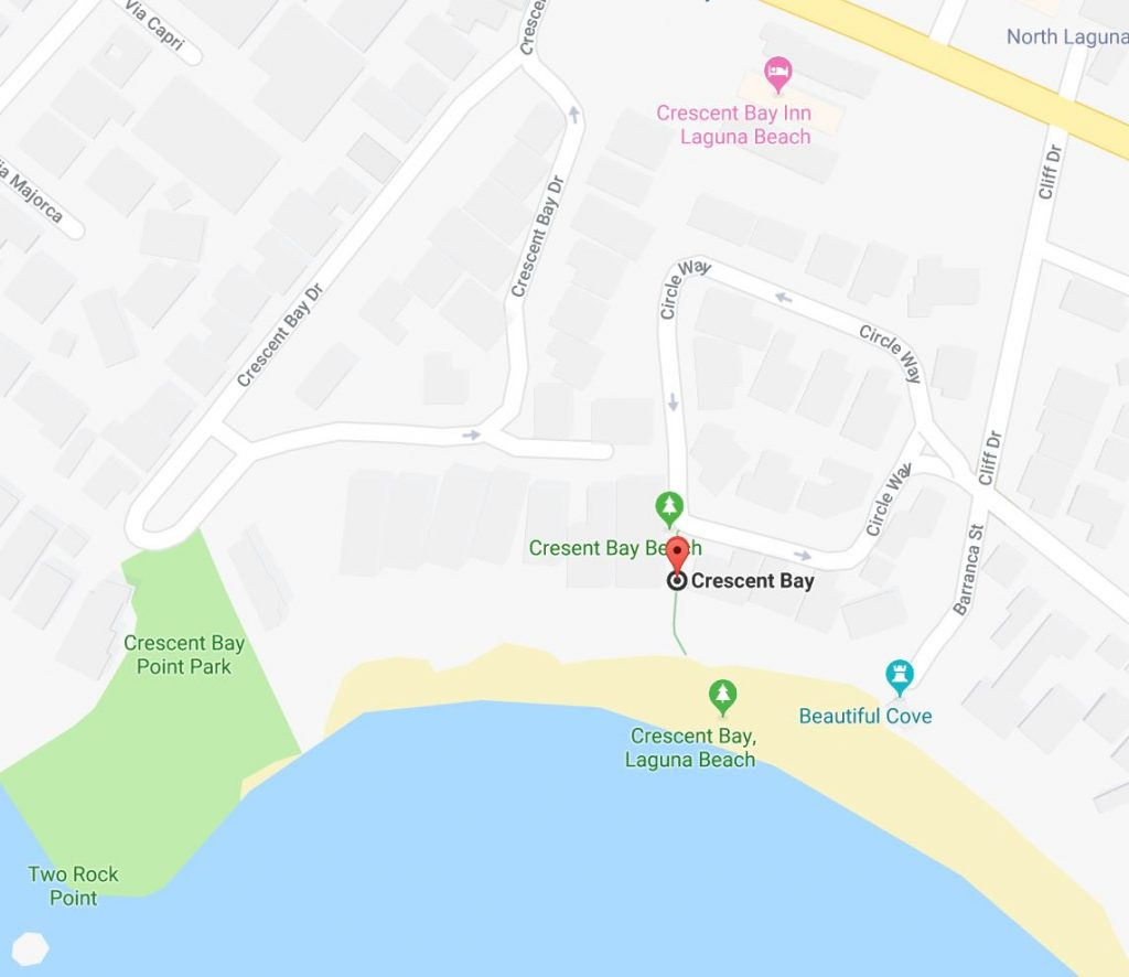 crescent bay beach address access laguna beach